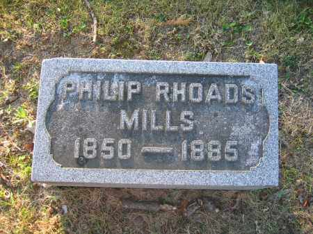 MILLS, PHILIP RHOADS - Union County, Ohio | PHILIP RHOADS MILLS - Ohio Gravestone Photos