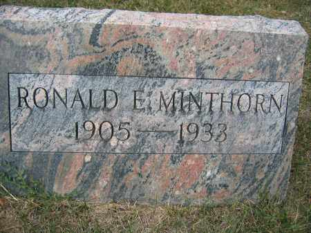 MINTHORN, RONALD E. - Union County, Ohio | RONALD E. MINTHORN - Ohio Gravestone Photos