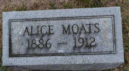 MOATS, ALICE - Union County, Ohio | ALICE MOATS - Ohio Gravestone Photos