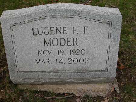 MODER, EUGENE F.F. - Union County, Ohio | EUGENE F.F. MODER - Ohio Gravestone Photos