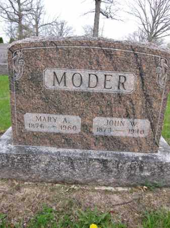 MODER, JOHN W. - Union County, Ohio | JOHN W. MODER - Ohio Gravestone Photos