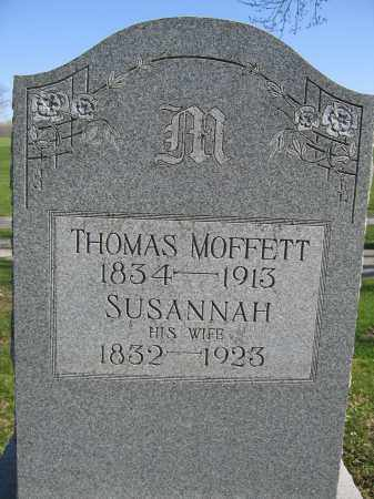 MOFFETT, SUSANNAH - Union County, Ohio | SUSANNAH MOFFETT - Ohio Gravestone Photos