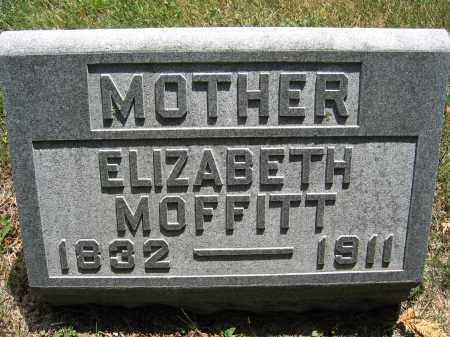 MOFFITT, ELIZABETH - Union County, Ohio | ELIZABETH MOFFITT - Ohio Gravestone Photos