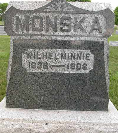 MONSKA, WILHEL MINNIE - Union County, Ohio | WILHEL MINNIE MONSKA - Ohio Gravestone Photos