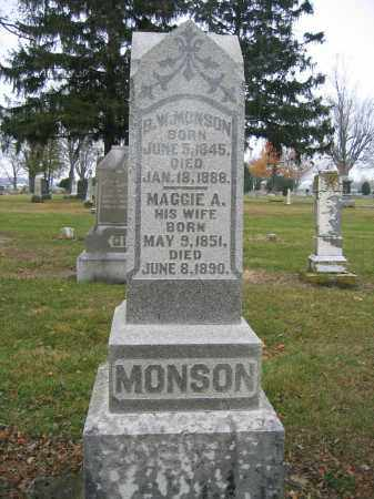 MONSON, MAGGIE A. - Union County, Ohio | MAGGIE A. MONSON - Ohio Gravestone Photos