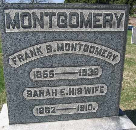 MONTGOMERY, SARAH E. - Union County, Ohio | SARAH E. MONTGOMERY - Ohio Gravestone Photos