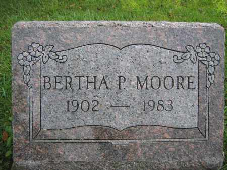 MOORE, BERTHA P. - Union County, Ohio | BERTHA P. MOORE - Ohio Gravestone Photos