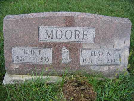 MOORE, EDNA W. - Union County, Ohio | EDNA W. MOORE - Ohio Gravestone Photos