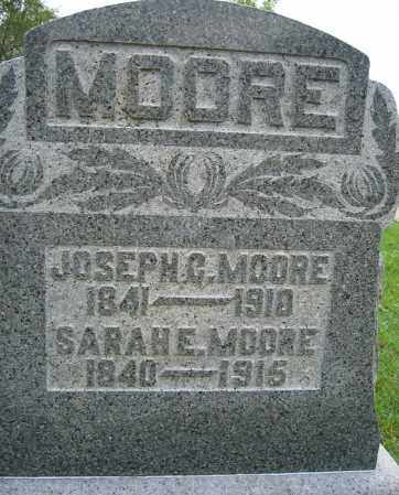 MOORE, SARAH E. - Union County, Ohio | SARAH E. MOORE - Ohio Gravestone Photos