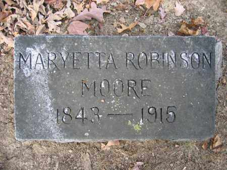 MOORE, MARYETTA ROBINSON - Union County, Ohio | MARYETTA ROBINSON MOORE - Ohio Gravestone Photos