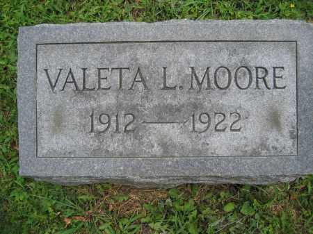 MOORE, VALETA L. - Union County, Ohio | VALETA L. MOORE - Ohio Gravestone Photos
