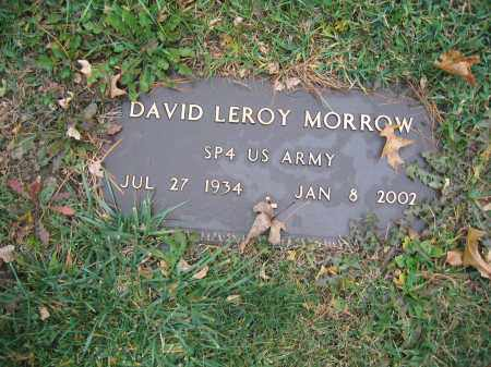 MORROW, DAVID LEROY - Union County, Ohio | DAVID LEROY MORROW - Ohio Gravestone Photos