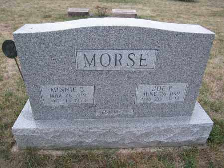 MORSE, JOE P. - Union County, Ohio | JOE P. MORSE - Ohio Gravestone Photos