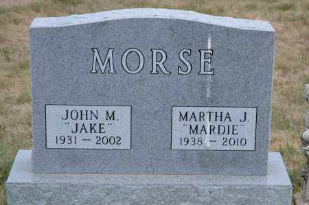MORSE, MARTHA J. - Union County, Ohio | MARTHA J. MORSE - Ohio Gravestone Photos