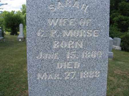MORSE, SARAH - Union County, Ohio | SARAH MORSE - Ohio Gravestone Photos