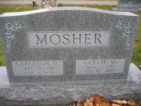 MOSHER, GOLDIE M. - Union County, Ohio | GOLDIE M. MOSHER - Ohio Gravestone Photos