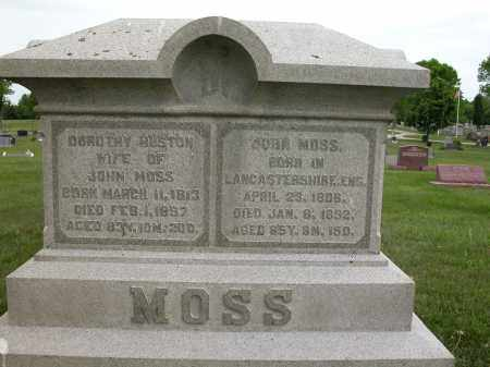 MOSS, JOHN - Union County, Ohio | JOHN MOSS - Ohio Gravestone Photos
