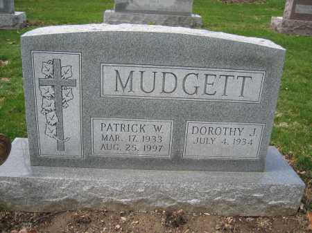 MUDGETT, DOROTHY J. - Union County, Ohio | DOROTHY J. MUDGETT - Ohio Gravestone Photos