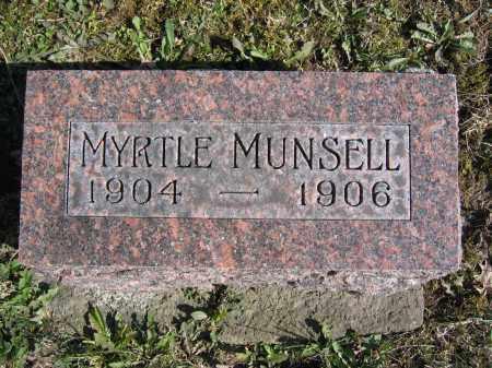 MUNSELL, MYRTLE - Union County, Ohio | MYRTLE MUNSELL - Ohio Gravestone Photos