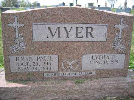 MYER, JOHN PAUL - Union County, Ohio | JOHN PAUL MYER - Ohio Gravestone Photos