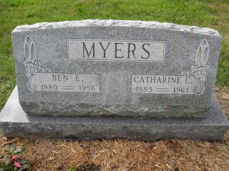 MYERS, BEN E. - Union County, Ohio | BEN E. MYERS - Ohio Gravestone Photos