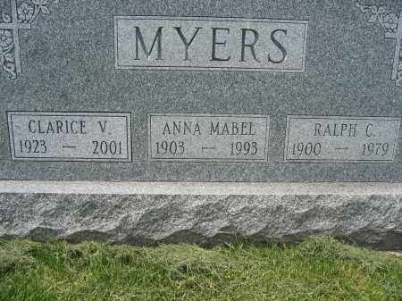 MYERS, ANNA MABEL - Union County, Ohio | ANNA MABEL MYERS - Ohio Gravestone Photos