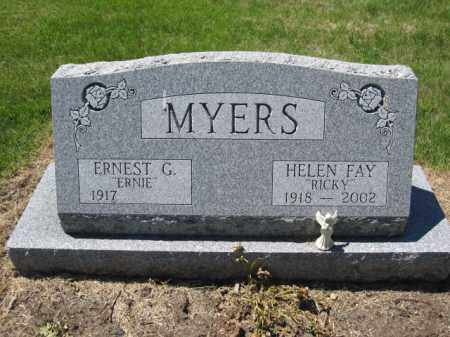 MYERS, ERNEST G. - Union County, Ohio | ERNEST G. MYERS - Ohio Gravestone Photos
