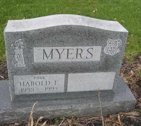 MYERS, HAROLD E. - Union County, Ohio | HAROLD E. MYERS - Ohio Gravestone Photos