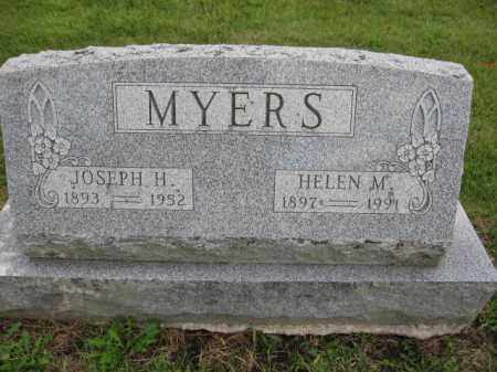 MYERS, JOSEPH H. - Union County, Ohio | JOSEPH H. MYERS - Ohio Gravestone Photos