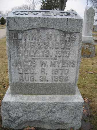 MYERS, LOVINA - Union County, Ohio | LOVINA MYERS - Ohio Gravestone Photos