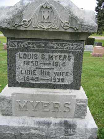MYERS, LIDIE - Union County, Ohio | LIDIE MYERS - Ohio Gravestone Photos