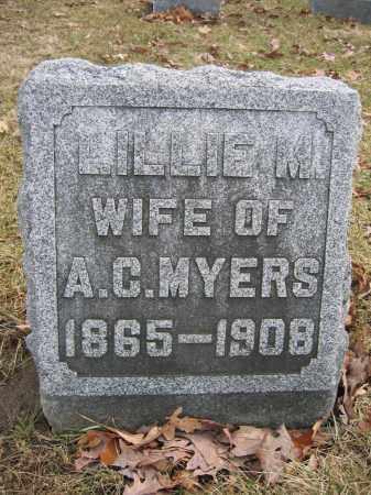 MYERS, LILLIE M. - Union County, Ohio | LILLIE M. MYERS - Ohio Gravestone Photos