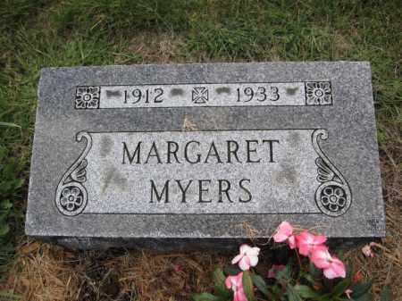 MYERS, MARGARET - Union County, Ohio | MARGARET MYERS - Ohio Gravestone Photos