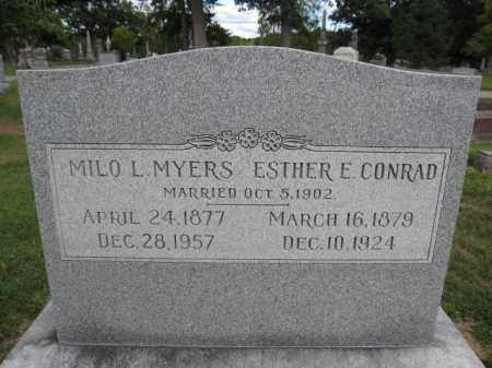 MYERS, ESTHER CONRAD - Union County, Ohio | ESTHER CONRAD MYERS - Ohio Gravestone Photos