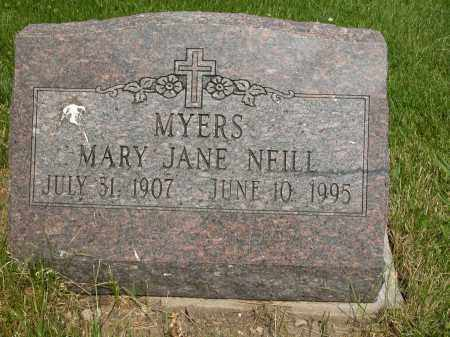 MYERS, MARY JANE - Union County, Ohio | MARY JANE MYERS - Ohio Gravestone Photos