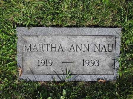NAU, MARTHA ANN - Union County, Ohio | MARTHA ANN NAU - Ohio Gravestone Photos