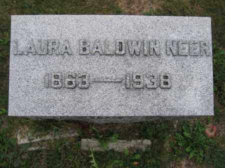 NEER, LAURA BALDWIN - Union County, Ohio | LAURA BALDWIN NEER - Ohio Gravestone Photos
