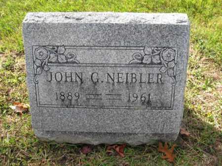 NEIBLER, JOHN G. - Union County, Ohio | JOHN G. NEIBLER - Ohio Gravestone Photos