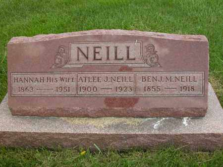 NEILL, BEN J.M. - Union County, Ohio | BEN J.M. NEILL - Ohio Gravestone Photos