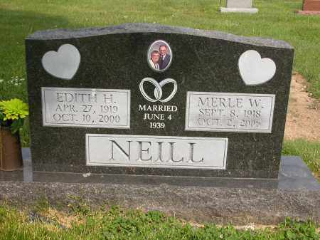 NEILL, EDITH H. - Union County, Ohio | EDITH H. NEILL - Ohio Gravestone Photos