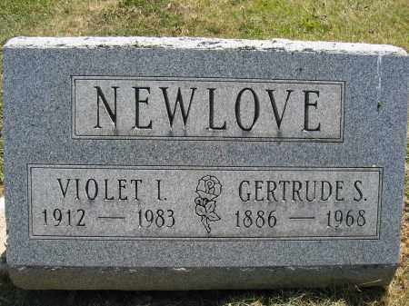 NEWLOVE, VIOLET I. - Union County, Ohio | VIOLET I. NEWLOVE - Ohio Gravestone Photos