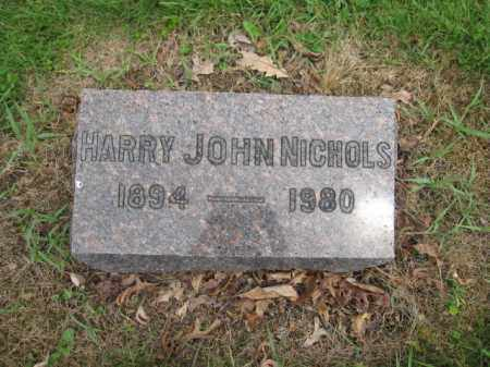NICHOLS, HARRY JOHN - Union County, Ohio | HARRY JOHN NICHOLS - Ohio Gravestone Photos