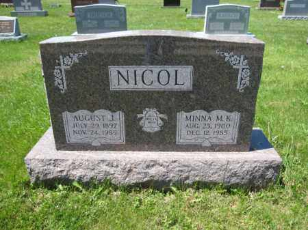 NICOL, MINNA M.K. - Union County, Ohio | MINNA M.K. NICOL - Ohio Gravestone Photos