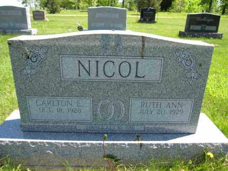 NICOL, CARLTON E. - Union County, Ohio | CARLTON E. NICOL - Ohio Gravestone Photos