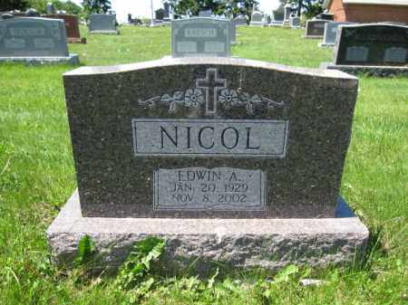 NICOL, EDWIN A. - Union County, Ohio | EDWIN A. NICOL - Ohio Gravestone Photos