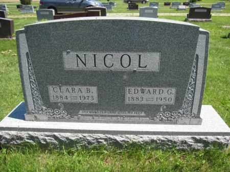 NICOL, EDWARD G. - Union County, Ohio | EDWARD G. NICOL - Ohio Gravestone Photos