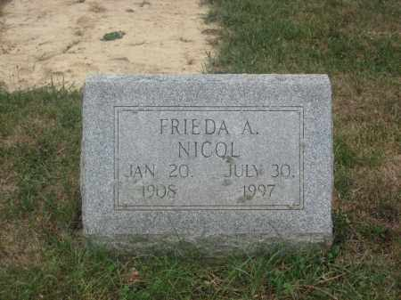 NICOL, FRIEDA A. - Union County, Ohio | FRIEDA A. NICOL - Ohio Gravestone Photos