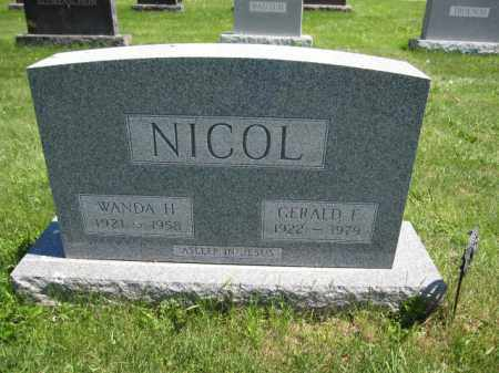 NICOL, WANDA H. - Union County, Ohio | WANDA H. NICOL - Ohio Gravestone Photos