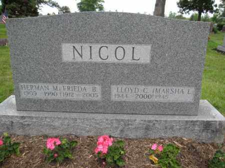 NICOL, LLYOD C. - Union County, Ohio | LLYOD C. NICOL - Ohio Gravestone Photos