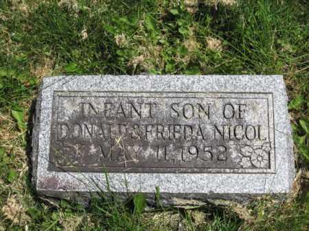 NICOL, INFANT SON - Union County, Ohio | INFANT SON NICOL - Ohio Gravestone Photos
